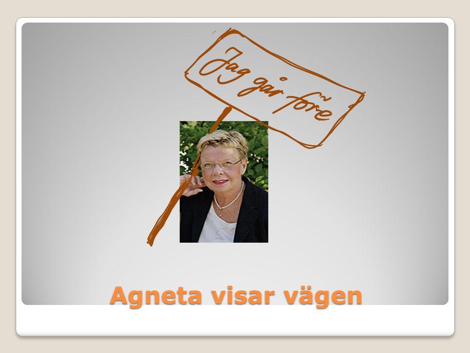 Agneta visar vägen
