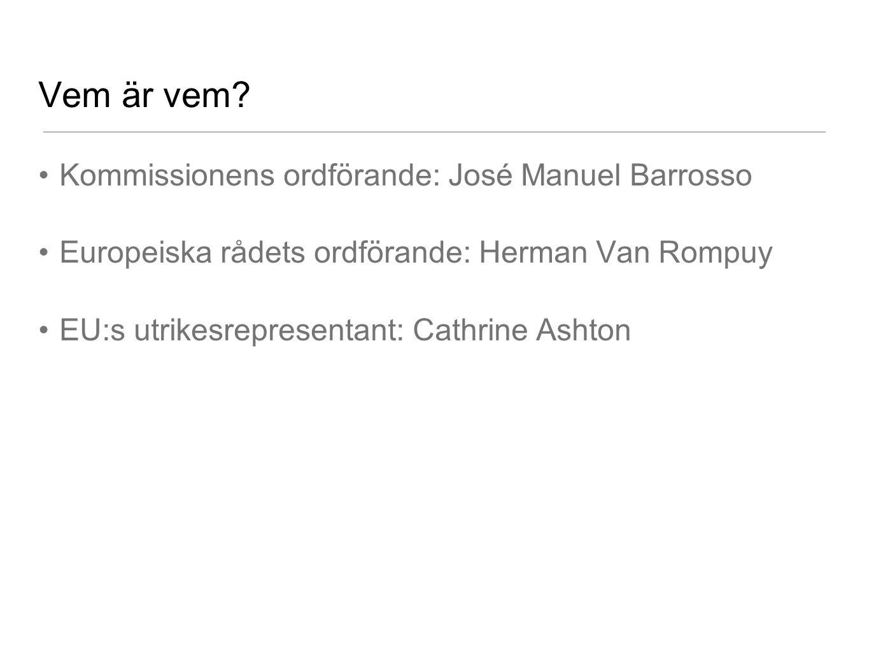 Vem är vem Kommissionens ordförande: José Manuel Barrosso