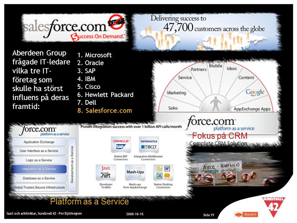 Fokus på CRM Platform as a Service