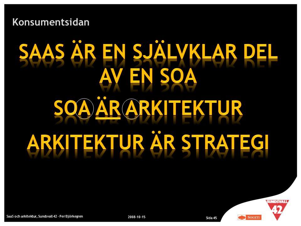 SaaS är en självklar del av en SOA Arkitektur är Strategi