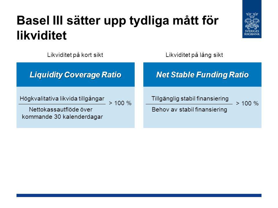 Basel III sätter upp tydliga mått för likviditet