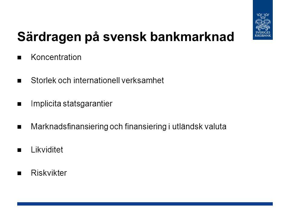 Särdragen på svensk bankmarknad