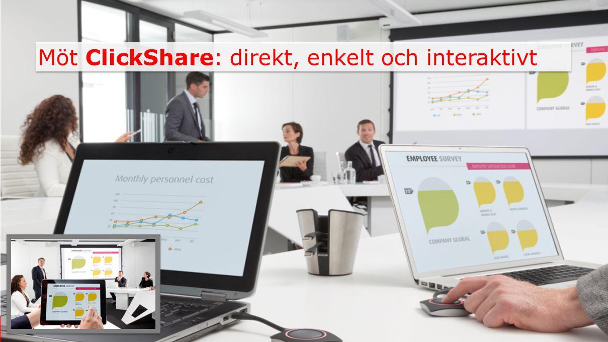 Möt ClickShare: direkt, enkelt och interaktivt