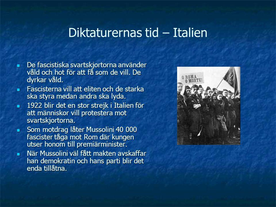 Diktaturernas tid – Italien