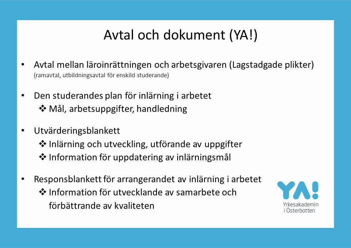 Avtal och dokument (YA!)