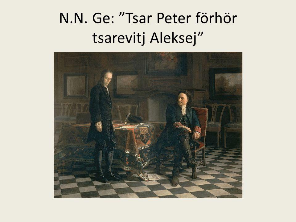 N.N. Ge: Tsar Peter förhör tsarevitj Aleksej