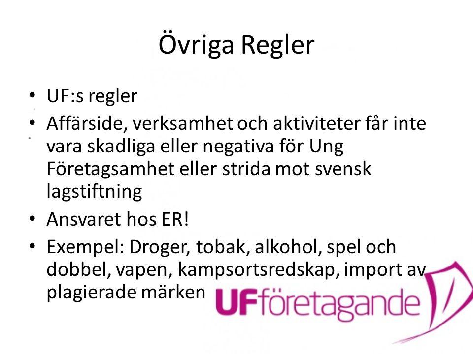 Övriga Regler UF:s regler