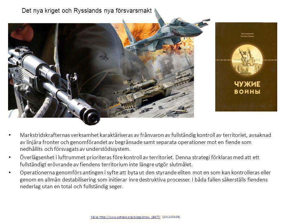 Det nya kriget och Rysslands nya försvarsmakt