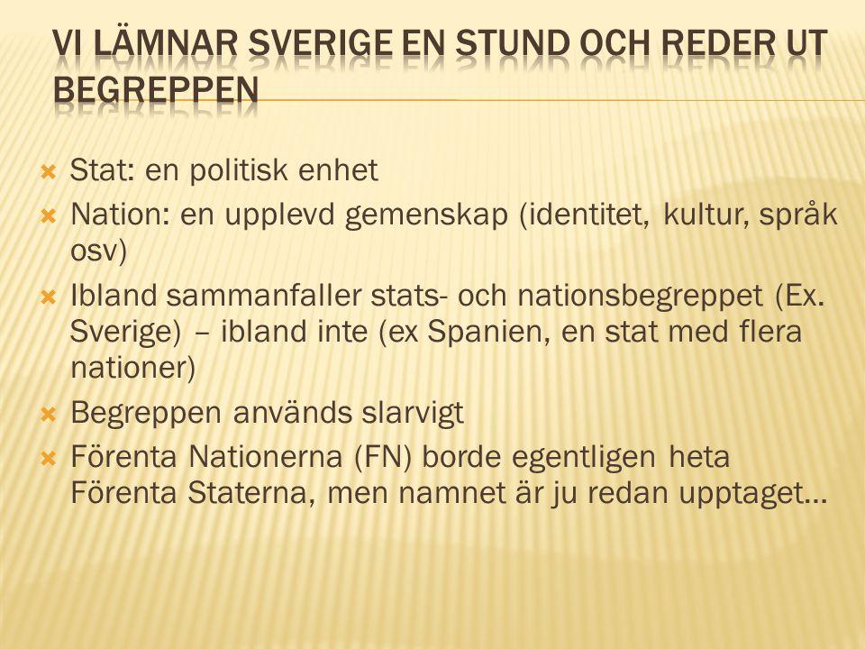 Vi lämnar Sverige en stund och reder ut begreppen