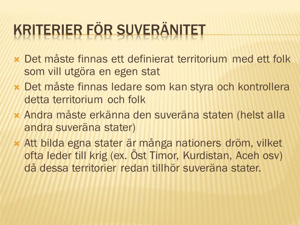 Kriterier för suveränitet