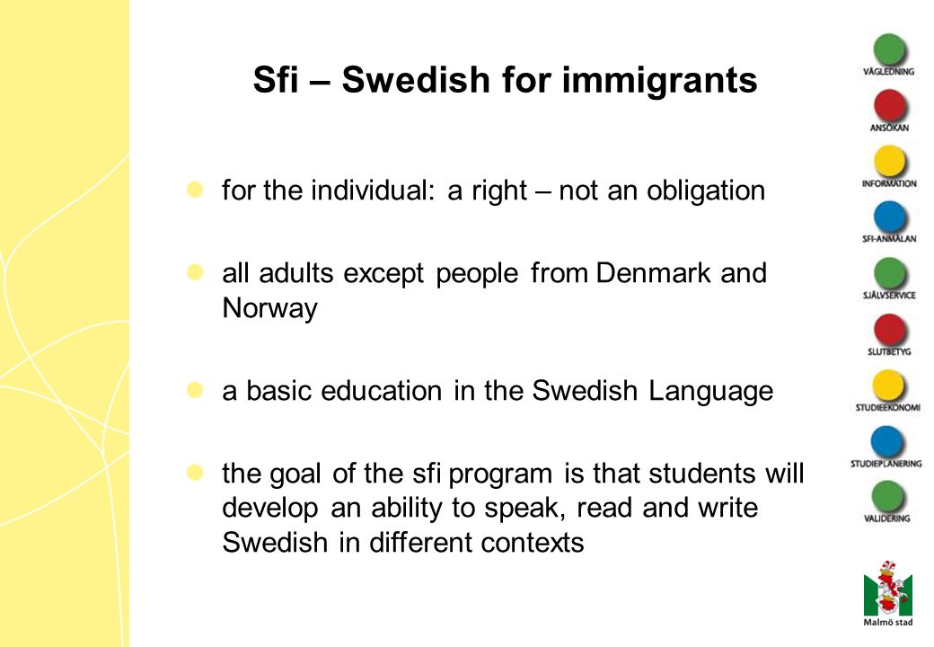 Sfi – Swedish for immigrants