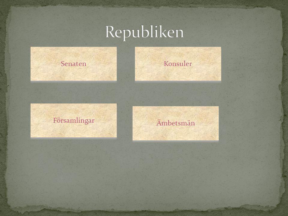 Republiken Senaten Konsuler Församlingar Ämbetsmän