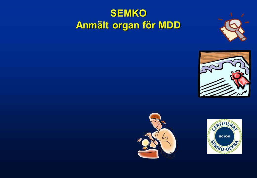 SEMKO Anmält organ för MDD