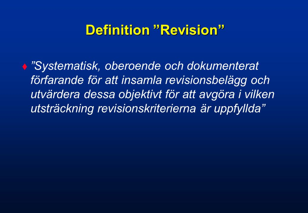 Definition Revision