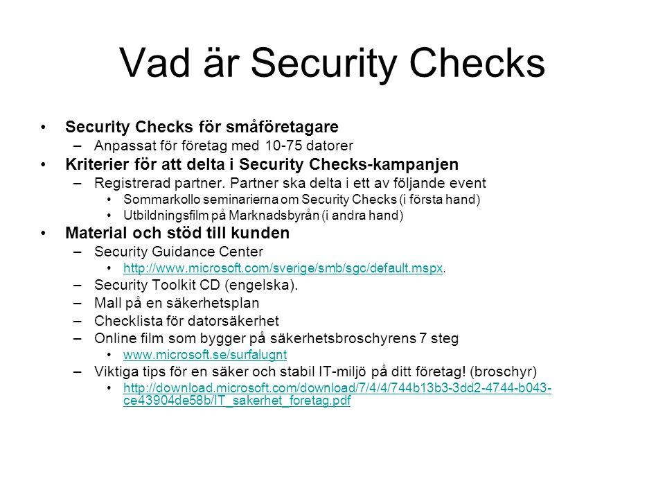 Vad är Security Checks Security Checks för småföretagare