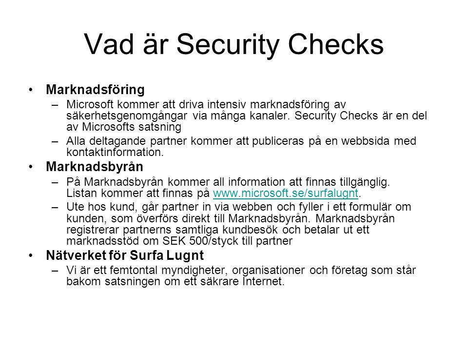 Vad är Security Checks Marknadsföring Marknadsbyrån