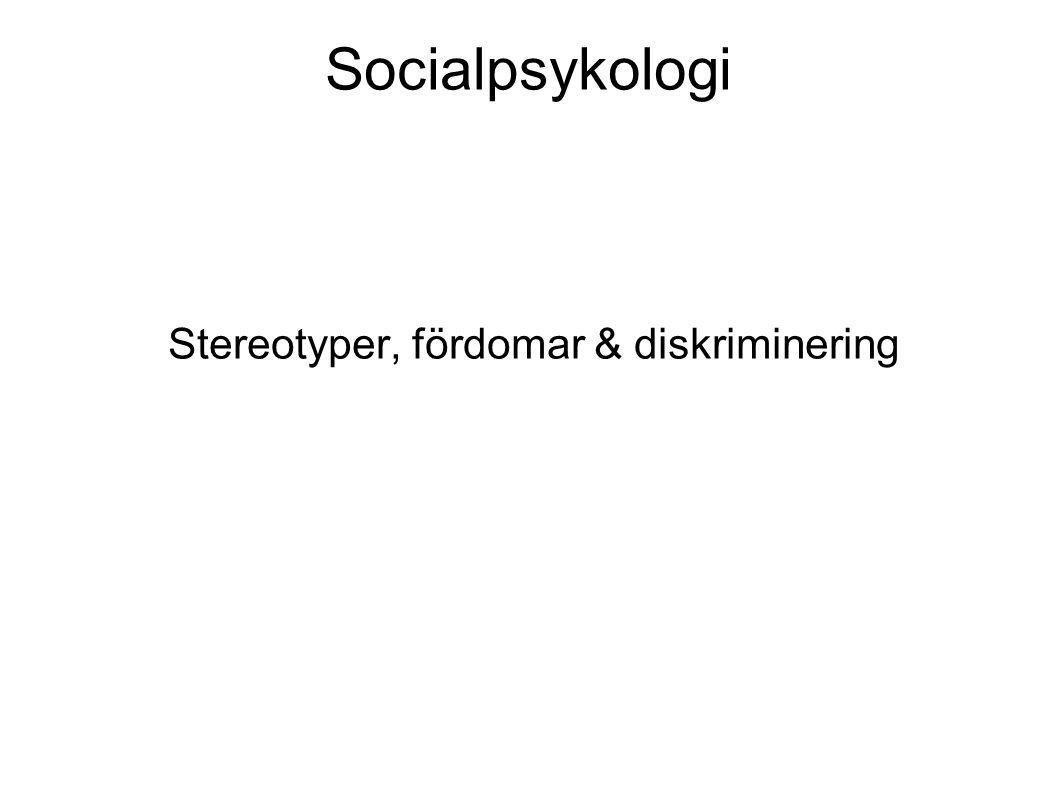 Stereotyper, fördomar & diskriminering