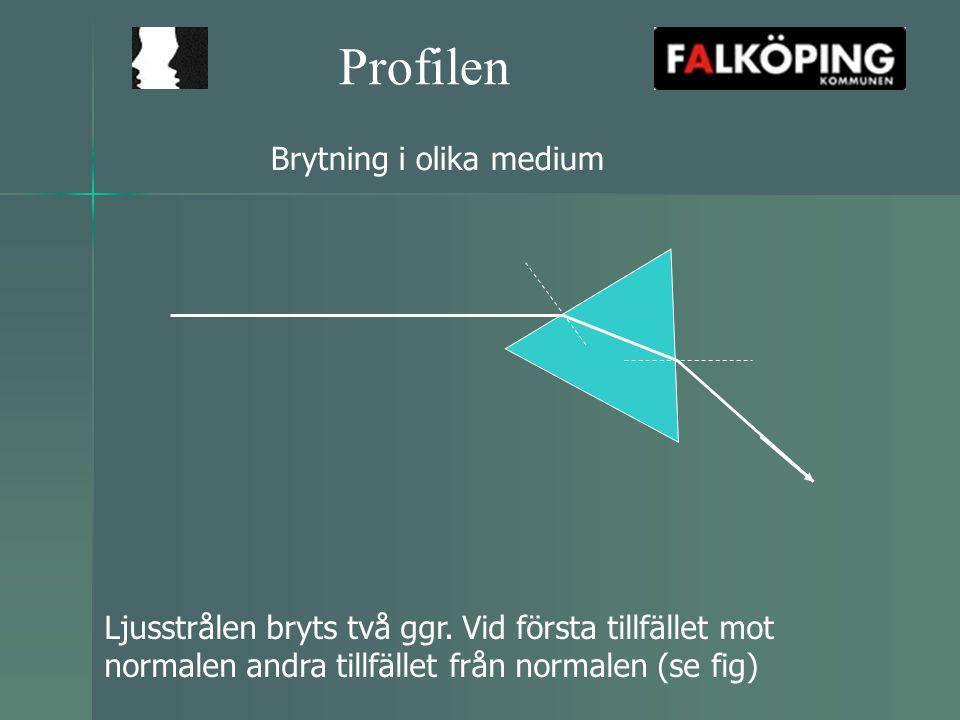 Profilen Brytning i olika medium