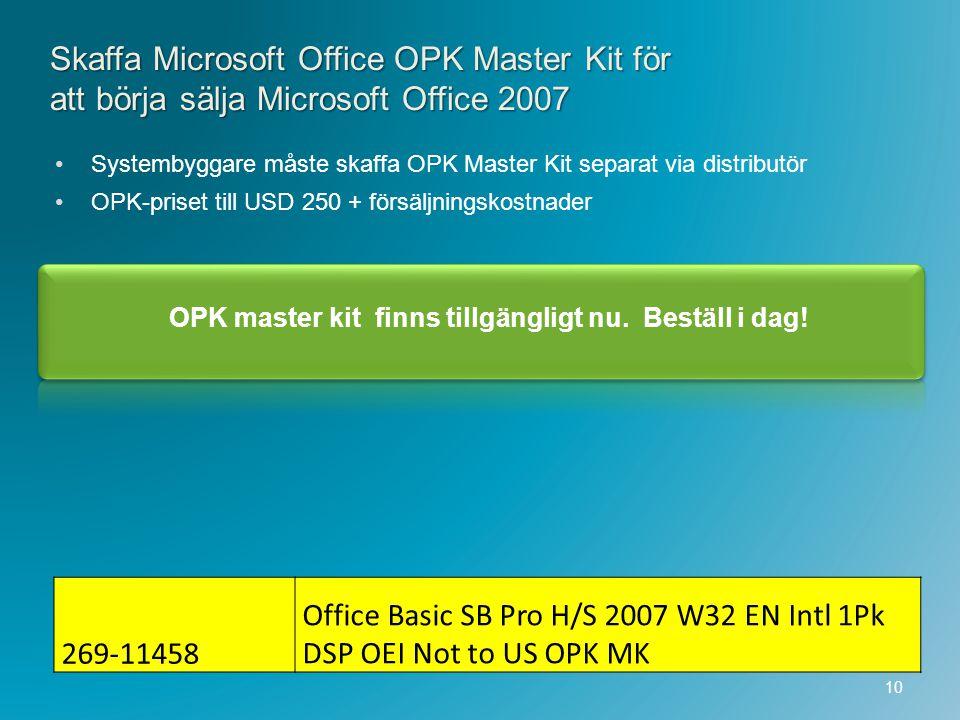 OPK master kit finns tillgängligt nu. Beställ i dag!