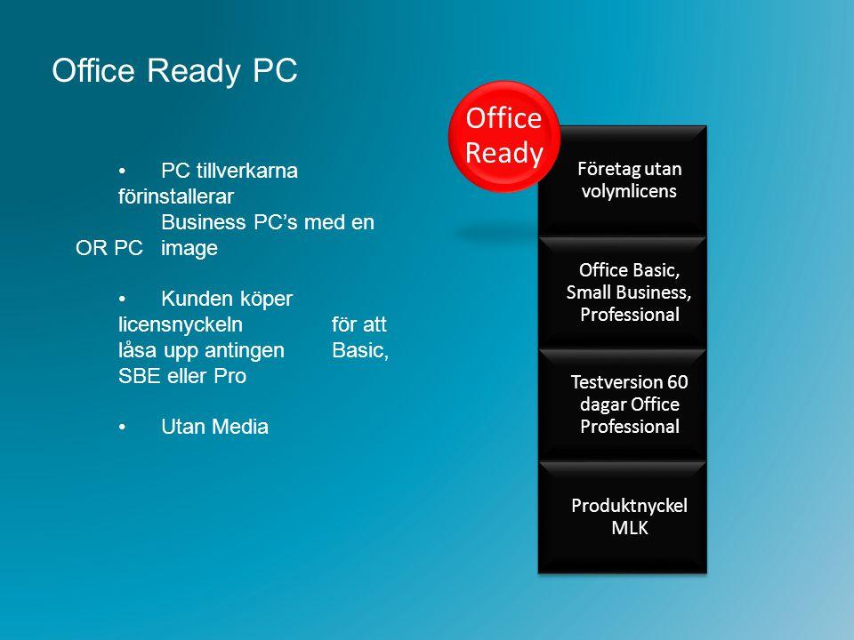 Office Ready PC PC tillverkarna förinstallerar