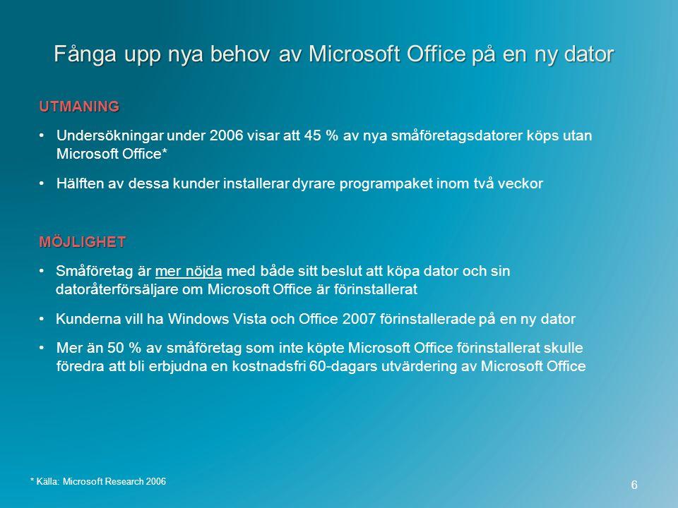 Fånga upp nya behov av Microsoft Office på en ny dator