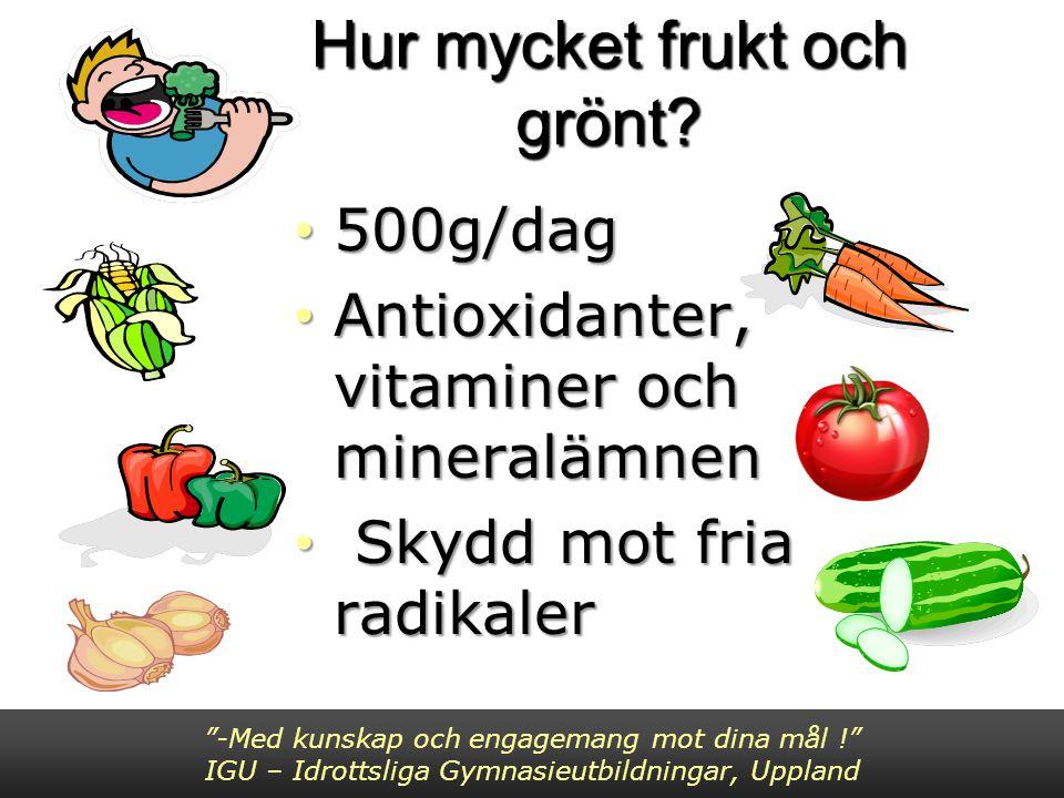 Hur mycket frukt och grönt