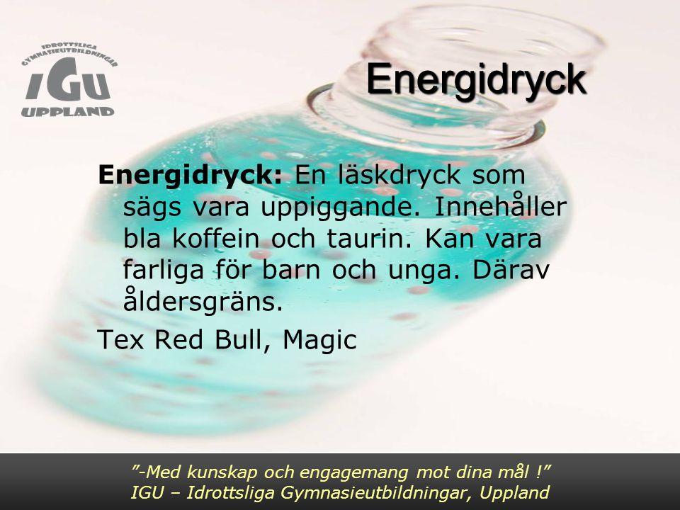 Energidryck