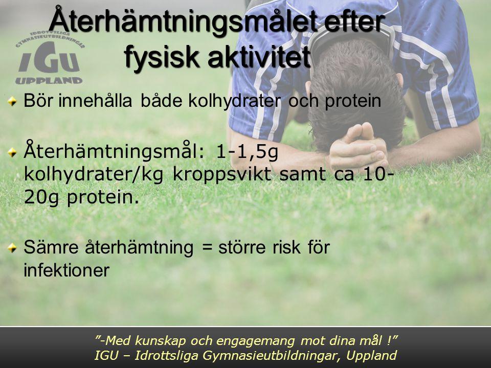 Återhämtningsmålet efter fysisk aktivitet
