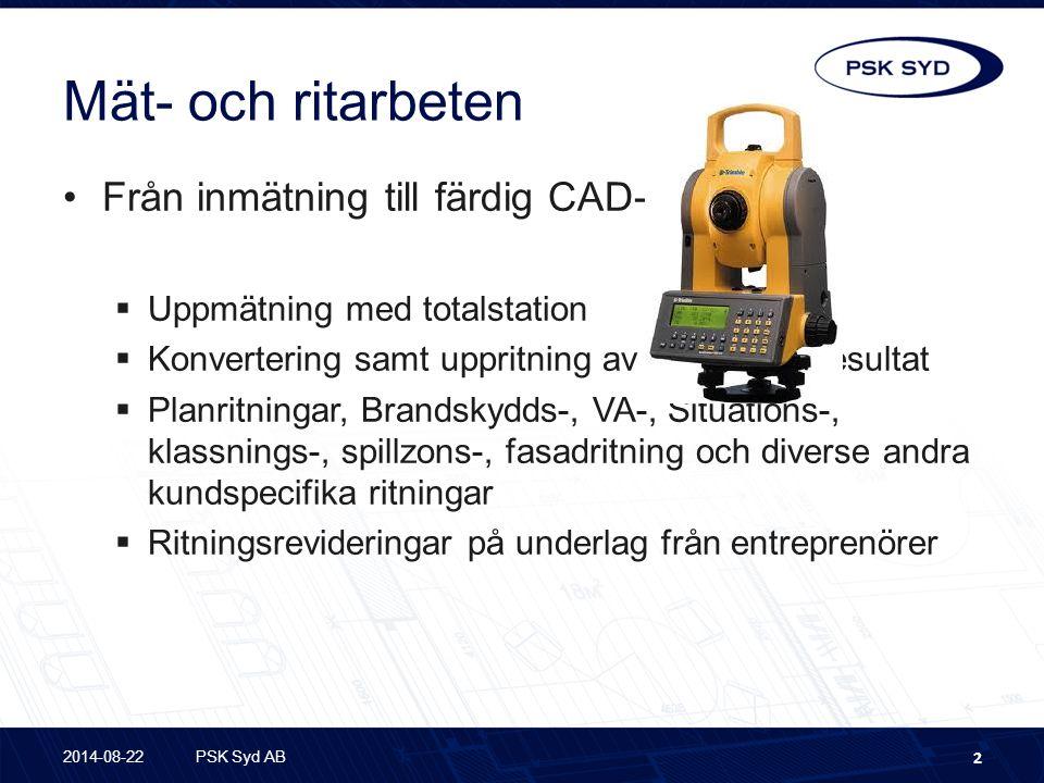 Mät- och ritarbeten Från inmätning till färdig CAD-ritning