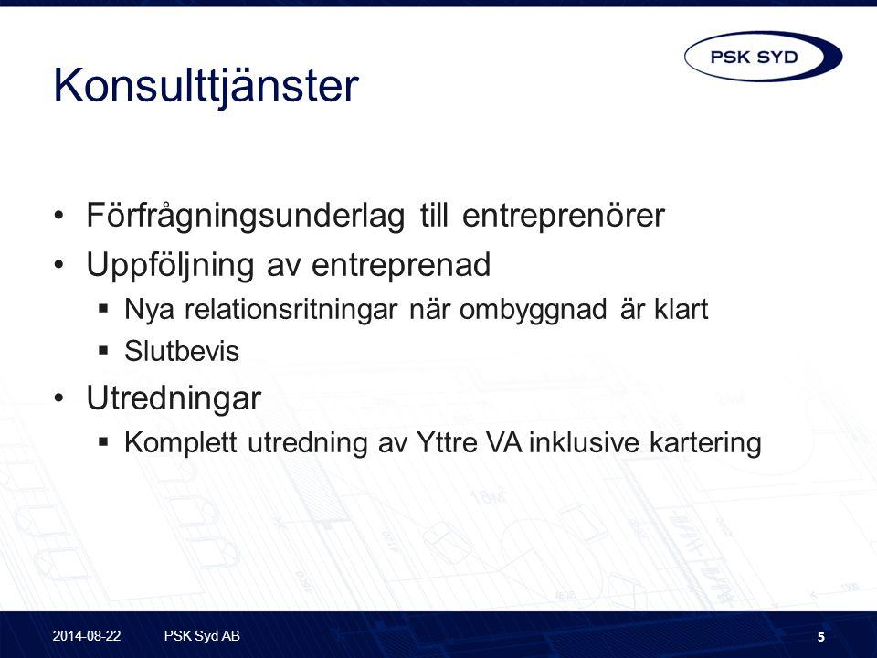 Konsulttjänster Förfrågningsunderlag till entreprenörer