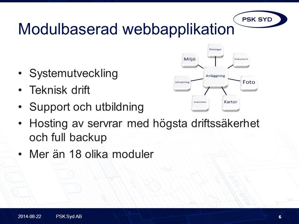 Modulbaserad webbapplikation