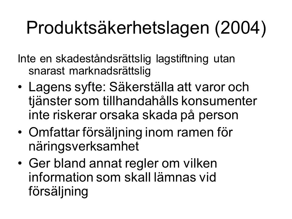 Produktsäkerhetslagen (2004)