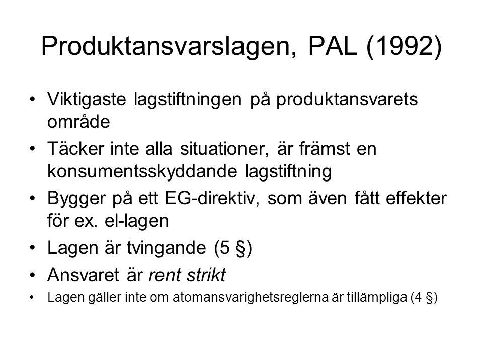 Produktansvarslagen, PAL (1992)