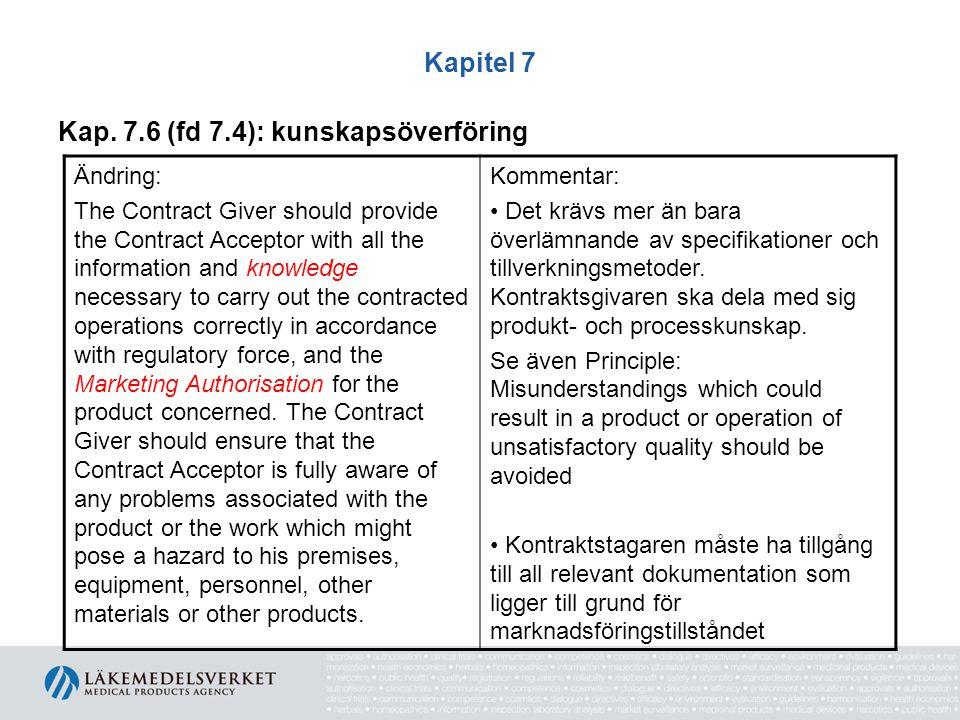 Kap. 7.6 (fd 7.4): kunskapsöverföring