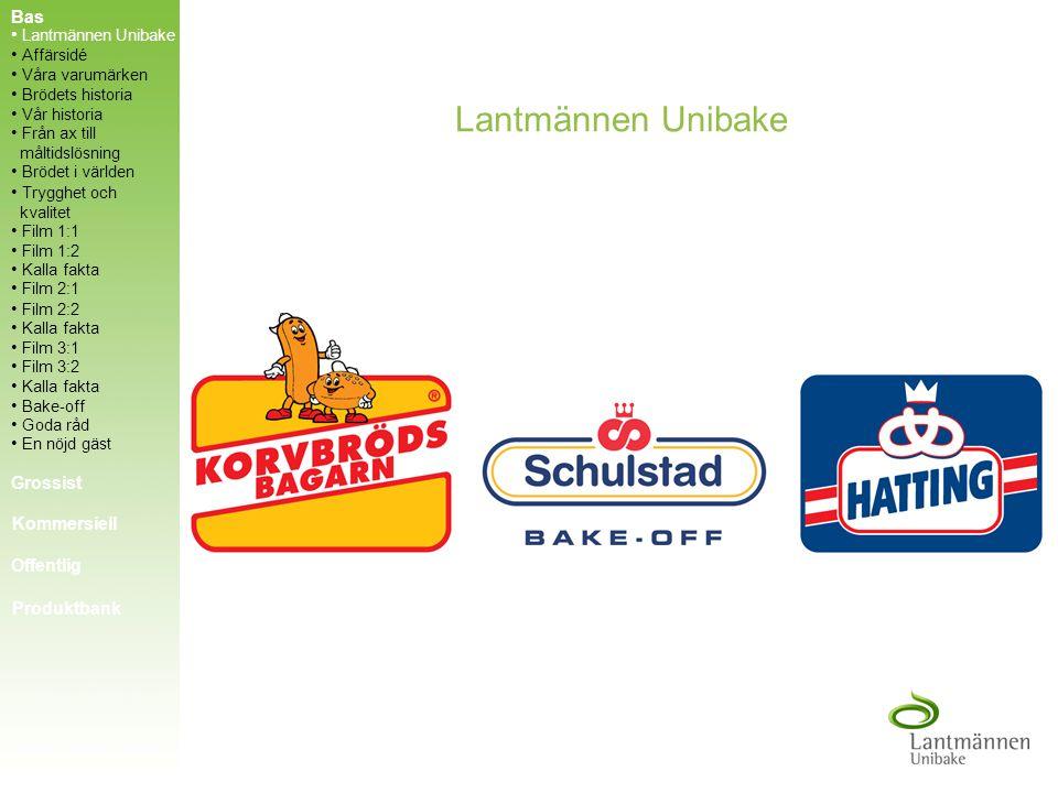 Lantmännen Unibake Bas Grossist Kommersiell Offentlig Produktbank