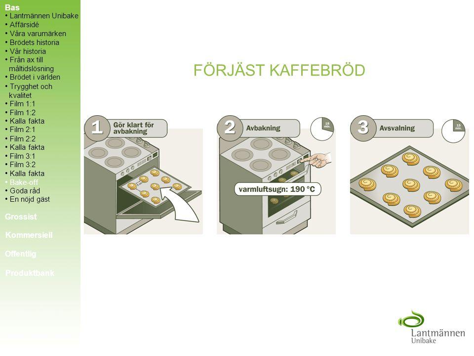 FÖRJÄST KAFFEBRÖD Bas Grossist Kommersiell Offentlig Produktbank
