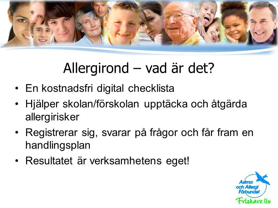 Allergirond – vad är det