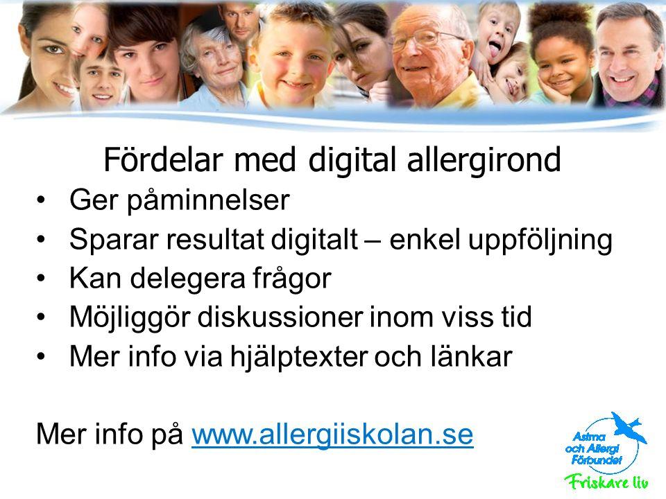 Fördelar med digital allergirond