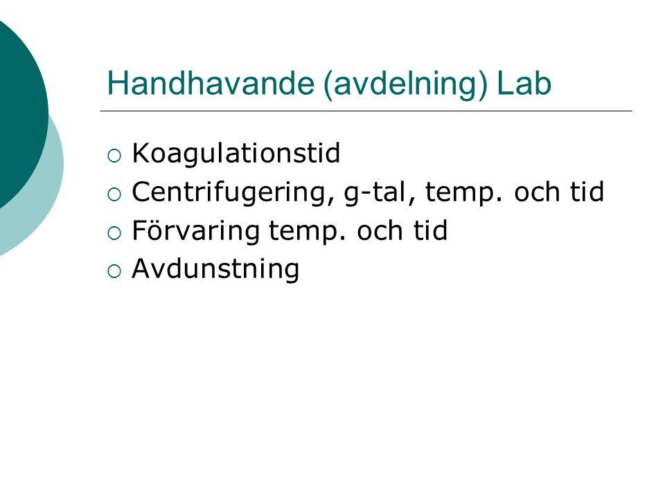 Handhavande (avdelning) Lab
