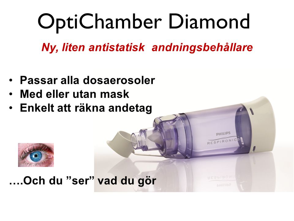 OptiChamber Diamond Ny, liten antistatisk andningsbehållare