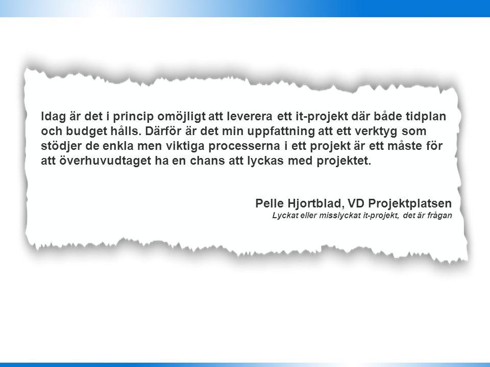 Pelle Hjortblad, VD Projektplatsen