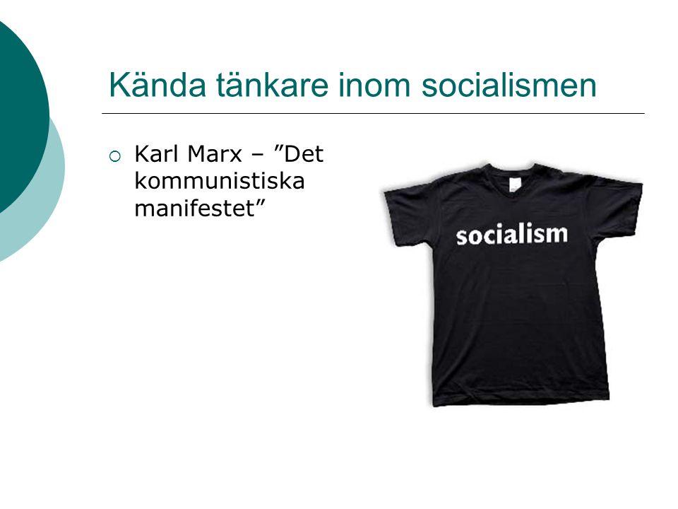 Kända tänkare inom socialismen