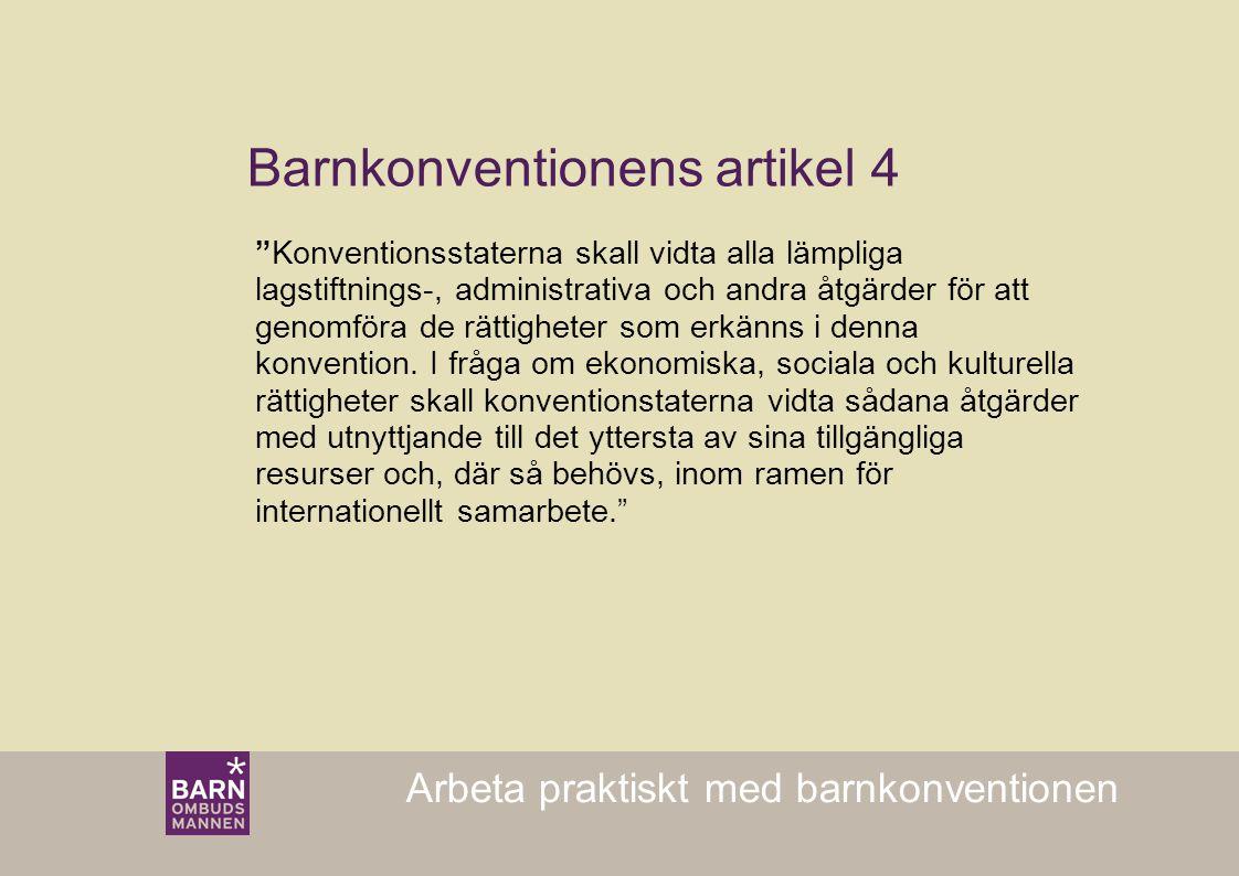Barnkonventionens artikel 4