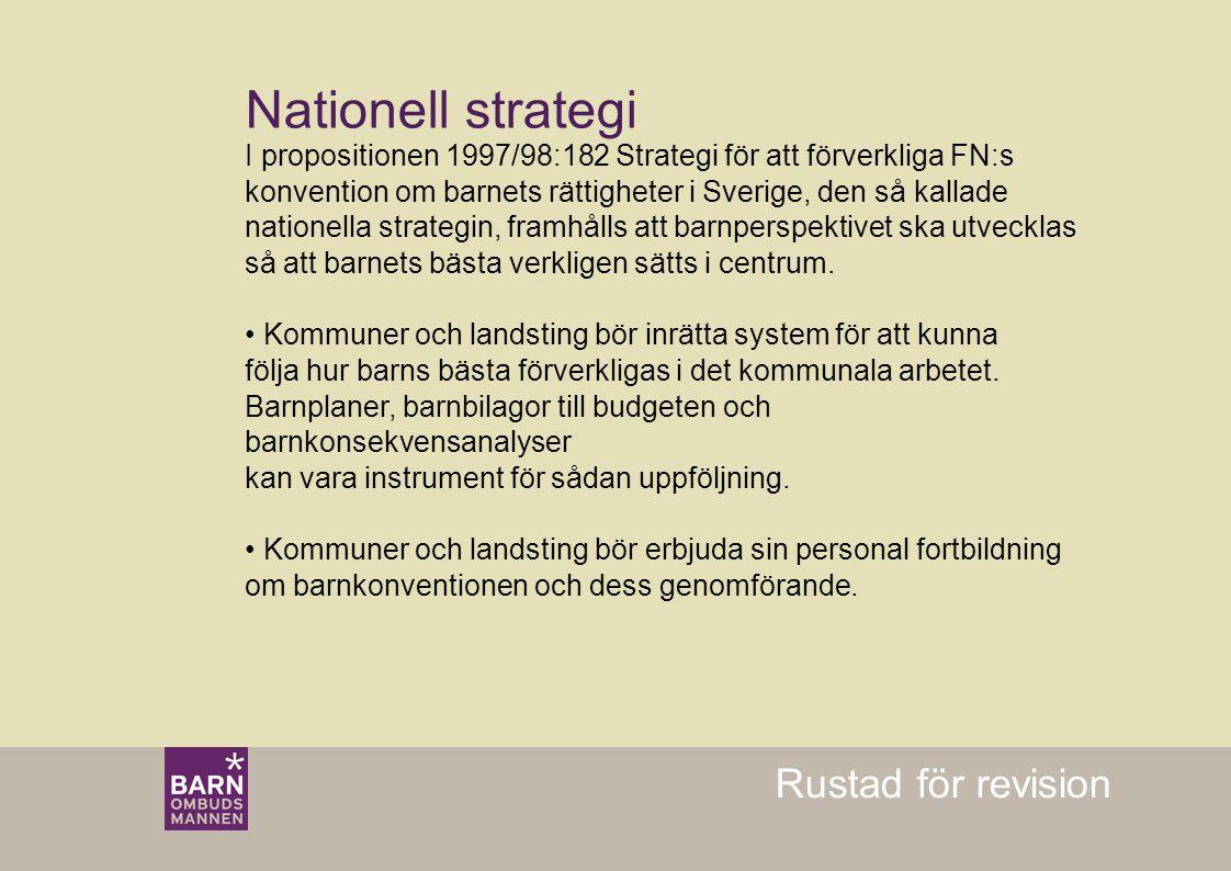 Nationell strategi Rustad för revision