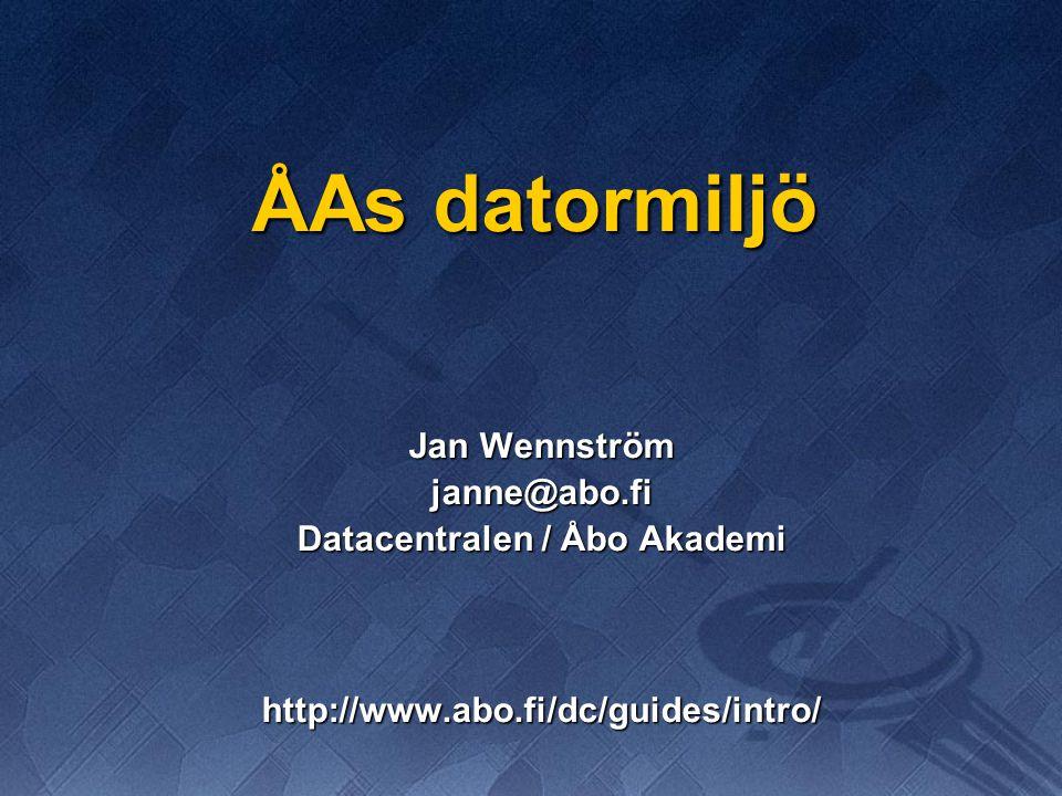 Datacentralen / Åbo Akademi