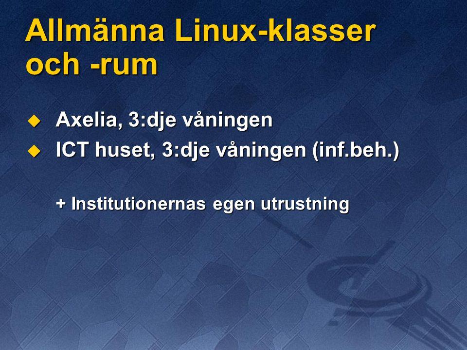 Allmänna Linux-klasser och -rum