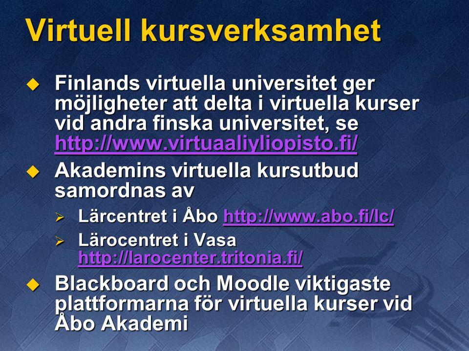 Virtuell kursverksamhet