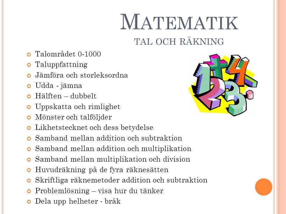 Matematik tal och räkning