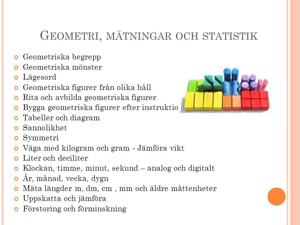 Geometri, mätningar och statistik