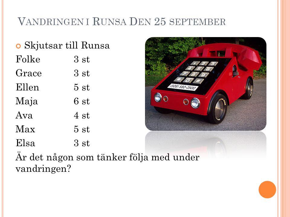 Vandringen i Runsa Den 25 september